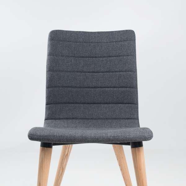 Chaise scandinave en tissu et bois - Doris 3 - 3