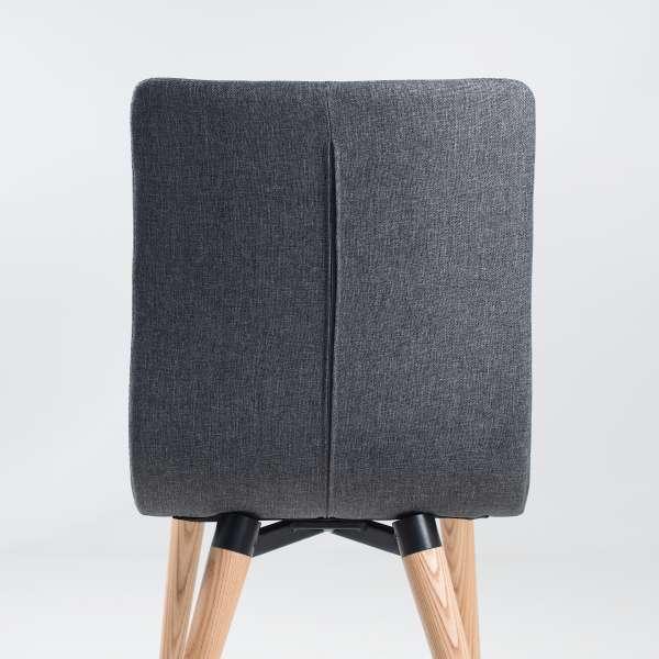 Chaise scandinave en tissu et bois - Doris 4 - 4
