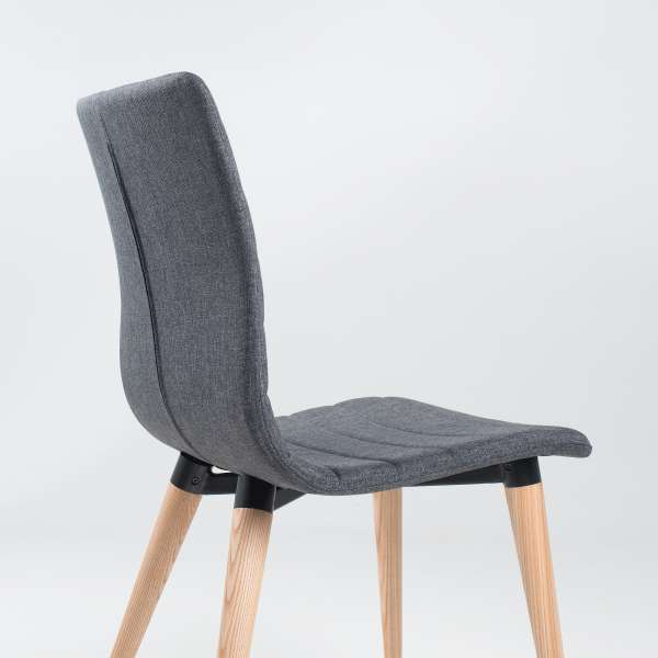 Chaise scandinave en tissu et bois - Doris 7 - 7
