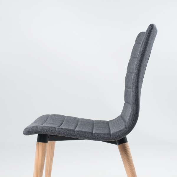Chaise scandinave en tissu et bois - Doris 6 - 6