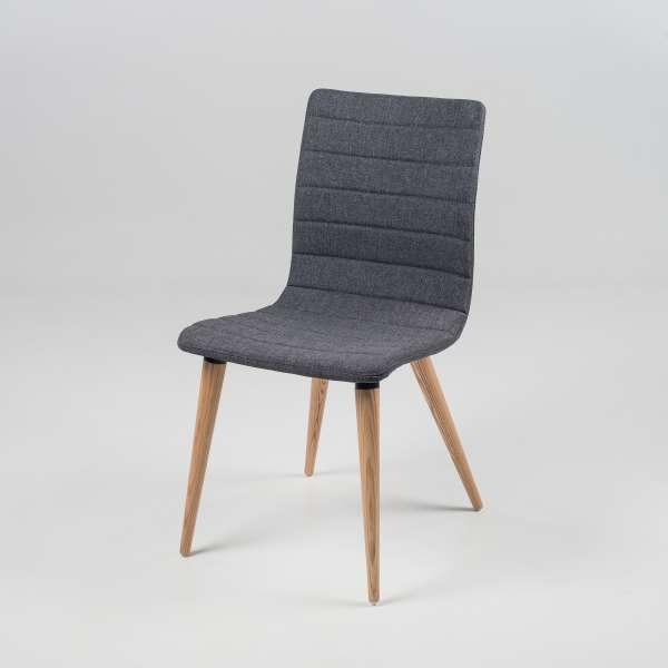 Chaise scandinave en tissu et bois - Doris 2 - 2