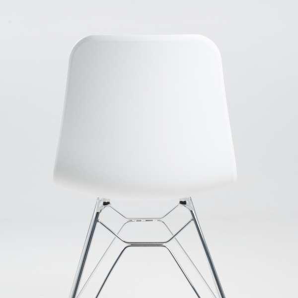 Chaise design en polypropylène blanc et métal - Céleste 4 - 4