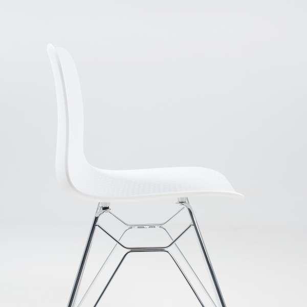 Chaise design en polypropylène blanc et métal - Céleste 5 - 5