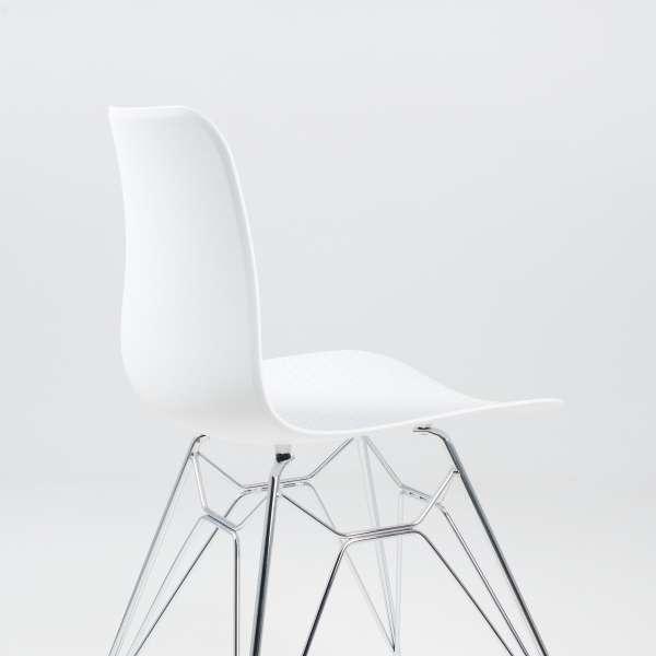 Chaise design en polypropylène blanc et métal - Céleste 6 - 6