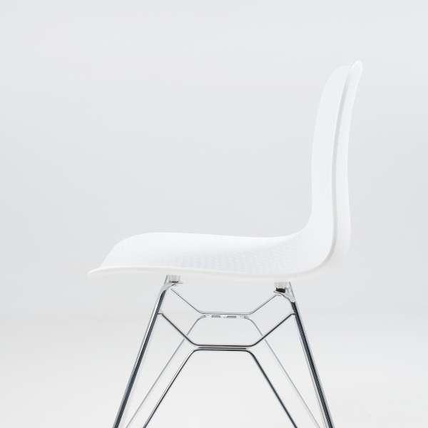 Chaise design en polypropylène blanc et métal - Céleste 8 - 8