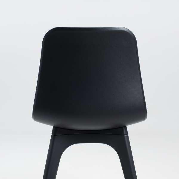 Chaise design en polypropylène noir - Céleste 3 - 3