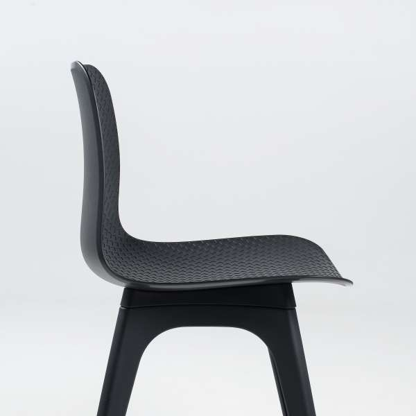 Chaise design en polypropylène noir - Céleste 4 - 4