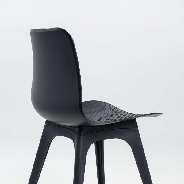 Chaise design en polypropylène noir - Céleste 6 - 6