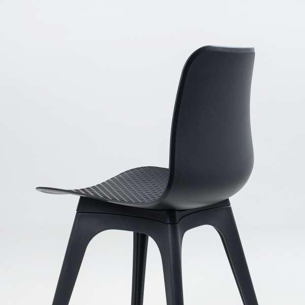 Chaise design en polypropylène noir - Céleste 7 - 7