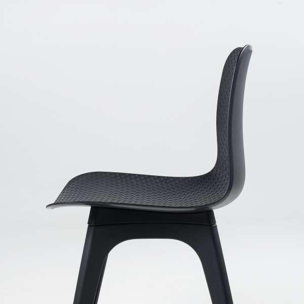 Chaise design en polypropylène noir - Céleste 5 - 5