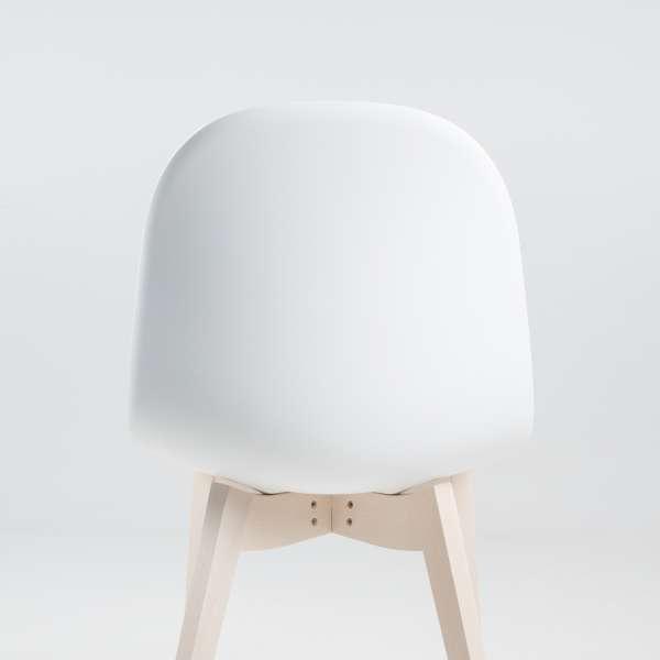 Chaise scandinave en polypropylène blanc et bois - 1665 Academy Connubia 6 - 6