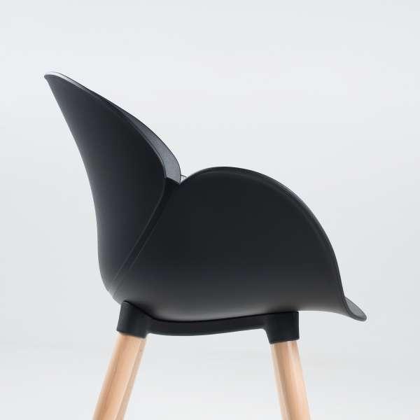 Fauteuil design en polypropylène et bois - Victoire 1 - 4