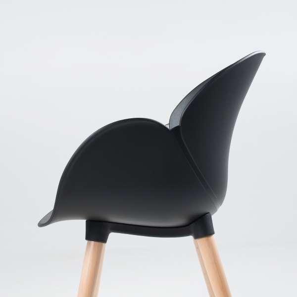 Fauteuil design en polypropylène et bois - Victoire 4 - 7