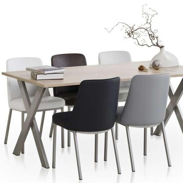 Chaise contemporaine en métal et vinyl - Elizé 3 - 3
