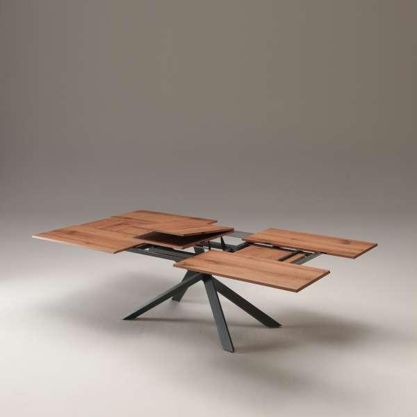 Table design rectangulaire extensible en bois et métal - 4x4 15 - 15