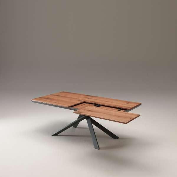 Table design rectangulaire extensible en bois et métal - 4x4 10 - 10