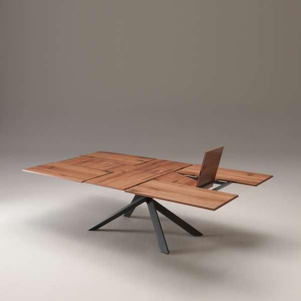 Table design rectangulaire extensible en bois et métal - 4x4 17 - 17