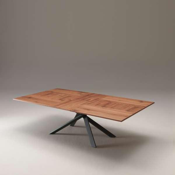 Table design rectangulaire extensible en bois et métal - 4x4 - 19