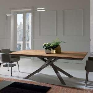 Table design rectangulaire extensible en bois et métal - 4x4