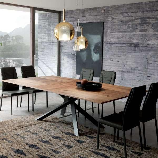 Table design rectangulaire extensible en bois et métal - 4x4 3 - 3