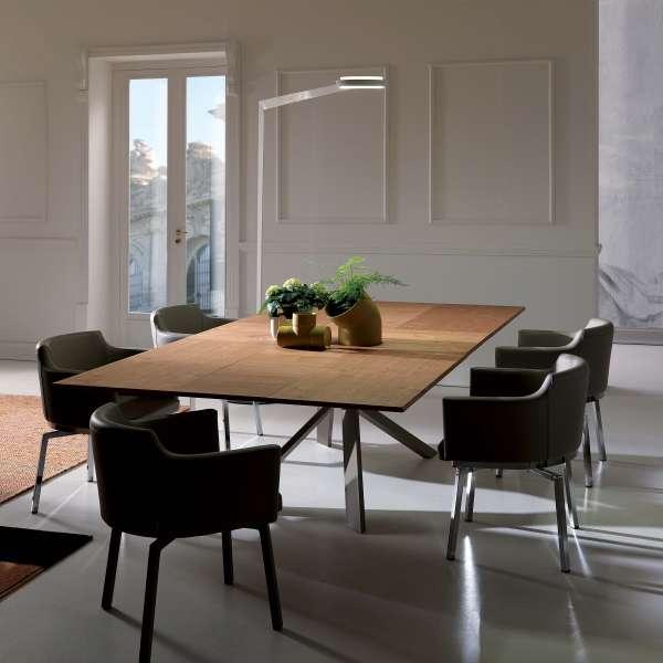 Table design rectangulaire extensible en bois et métal - 4x4 4 - 4