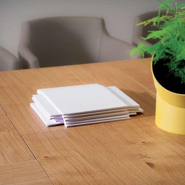 Table design rectangulaire extensible en bois et métal - 4x4 6 - 6