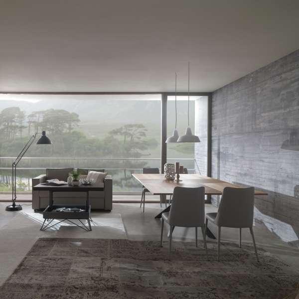 Table design rectangulaire extensible en bois et métal - 4x4 9 - 9