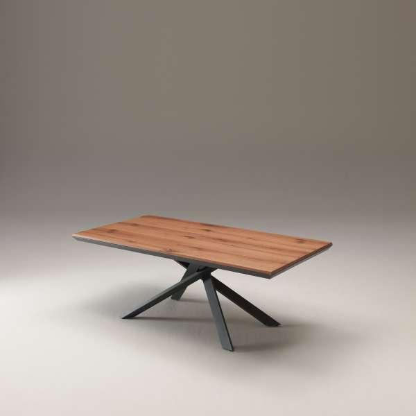 Table design rectangulaire extensible en bois et métal - 4x4 - 20