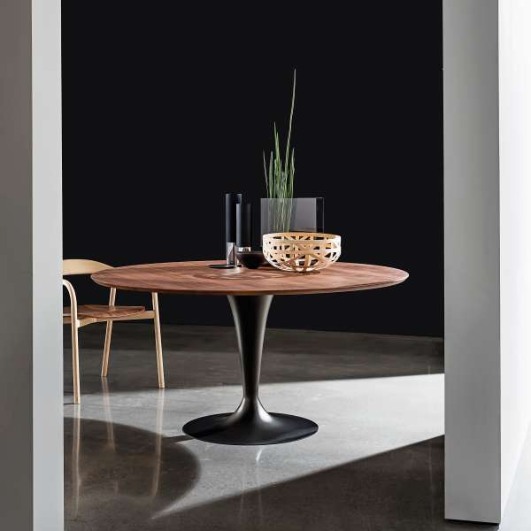 Table ronde design en bois - Flute Sovet® - 1