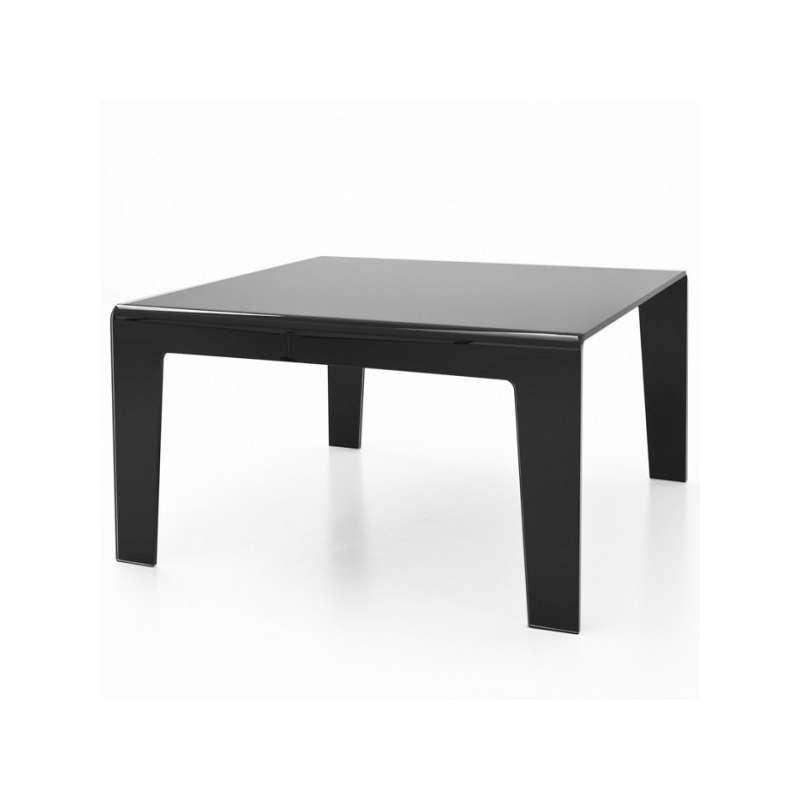 Table design rectangulaire ou carr e en verre frog sovet for Table carree en verre avec 4 chaises encastrables