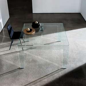 Table design rectangulaire ou carrée en verre - Frog Sovet®