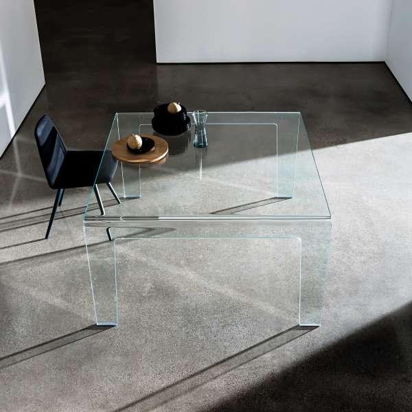 Table design rectangulaire ou carr e en verre frog sovet for Table carree en verre