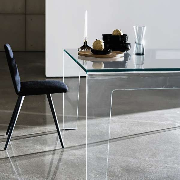 Table design rectangulaire ou carrée en verre - Frog Sovet® 2 - 2