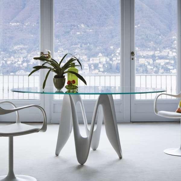 Table ronde design en verre - Lambda Sovet® 4 - 4