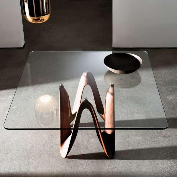 Table en verre design carrée ou rectangulaire - Lambda Sovet®