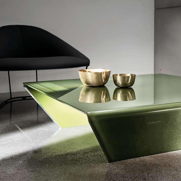 Table basse design en verre -  Rubino Sovet® 8 - 3