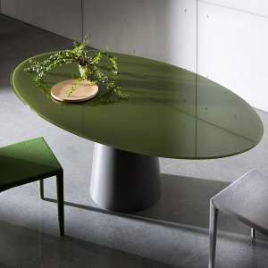 Table design ovale en verre - Totem Sovet®