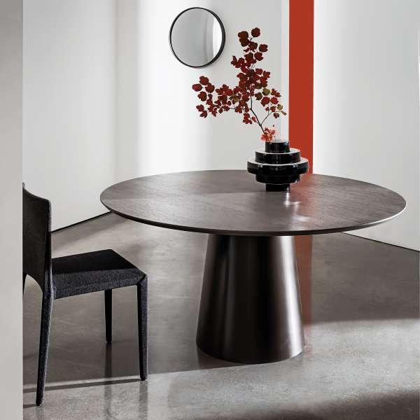 Table design ronde plateau bois - Totem Sovet®