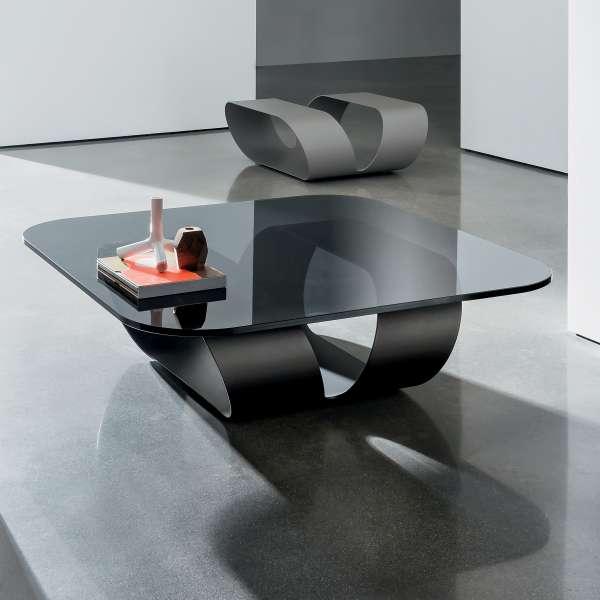 Table basse design en verre - Ring 2 - 2