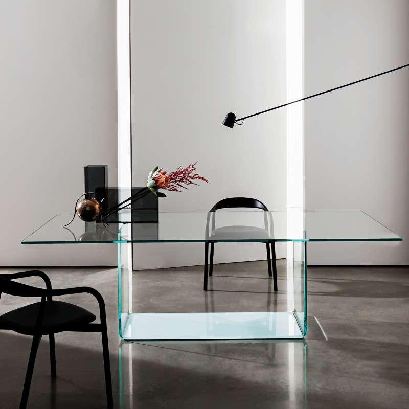 Table de salle manger design en verre valencia sovet - Table salle a manger design verre ...