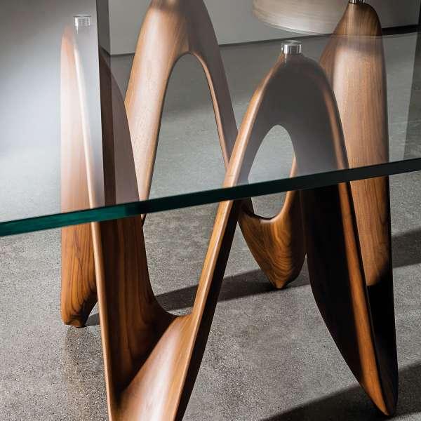 Table en verre design carrée 140 x 140 cm - Lambda Sovet® 9 - 9