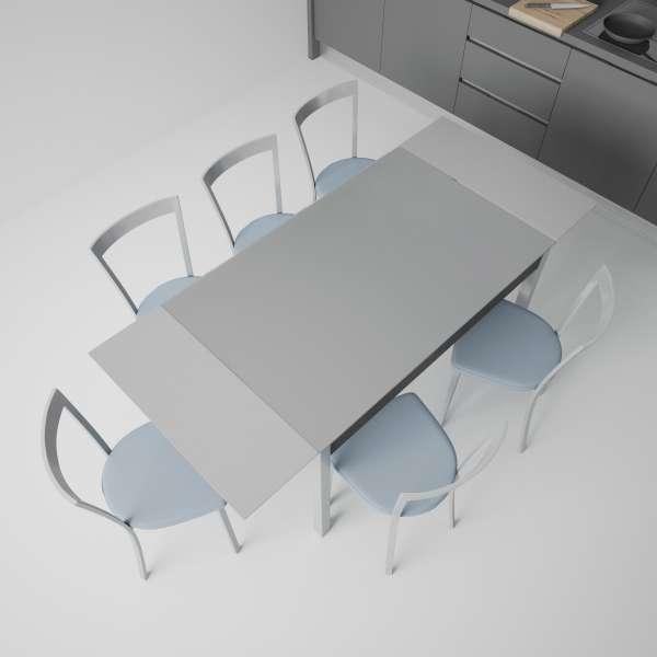 Table de cuisine en verre extensible avec tiroir - Camel