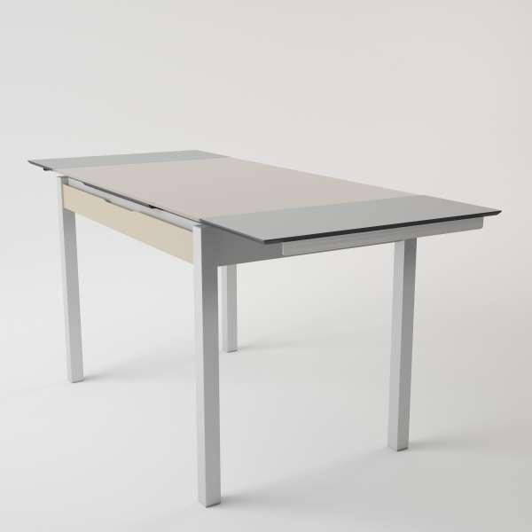 Table de cuisine en verre extensible avec tiroir - Camel 2 - 2
