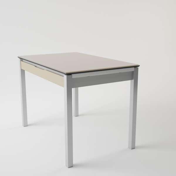 Table de cuisine en verre extensible avec tiroir - Camel 3 - 3