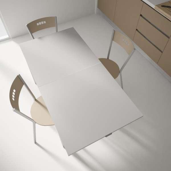 Table petit espace extensible en verre - Domino 8 - 8