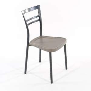Chaise de cuisine en polypropylène et métal - Go 1419