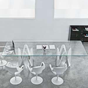 Achat de tables de salle manger en verre 4 pieds - Table salle a manger design verre ...