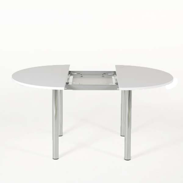 Table de cuisine ronde extensible en stratifié - Lustra 2 - 2