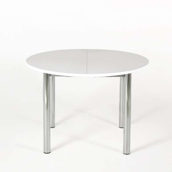 Table de cuisine ronde extensible en stratifié - Lustra