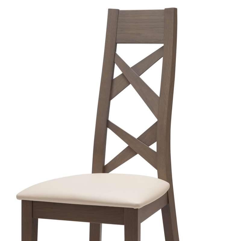 chaise de salle manger contemporaine en bois et vinyle. Black Bedroom Furniture Sets. Home Design Ideas